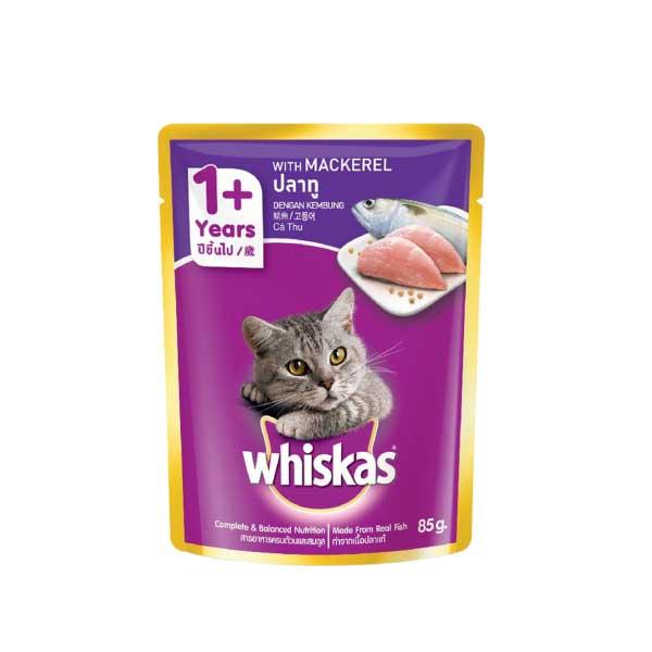 วิสกัส อาหารแมวชนิดเปียก แบบเพาช์ 85กรัม 1 ซอง รสปลาทู