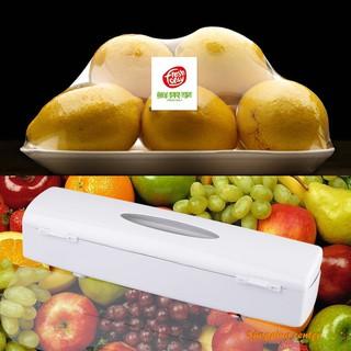 ☺SC Kitchen Plastic Food Cling Wrap Foil Dispenser Cutter