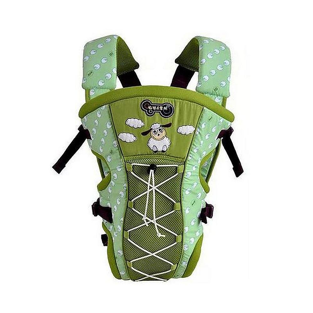 Mylilangelz KA0163 Mommy & Daddy Breathable 2-In-1 Baby Carrier (Green) (READY STOCK)