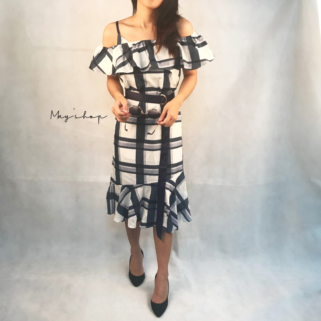 [ Clearance Stock ] Women Checked dress