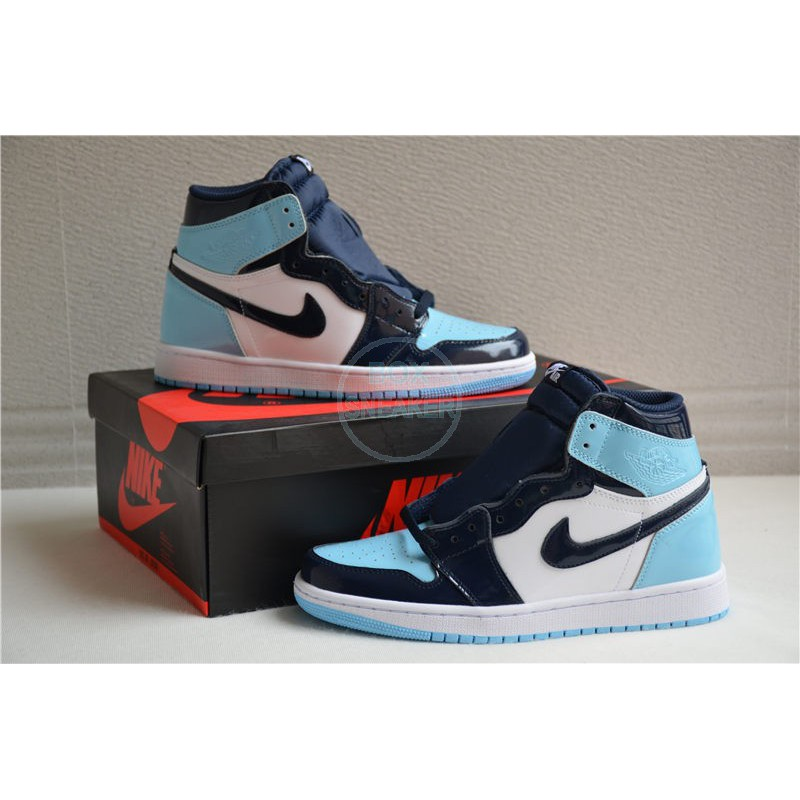 Air Jordan 1 Retro High Og Blue Chill Unc Shopee Malaysia