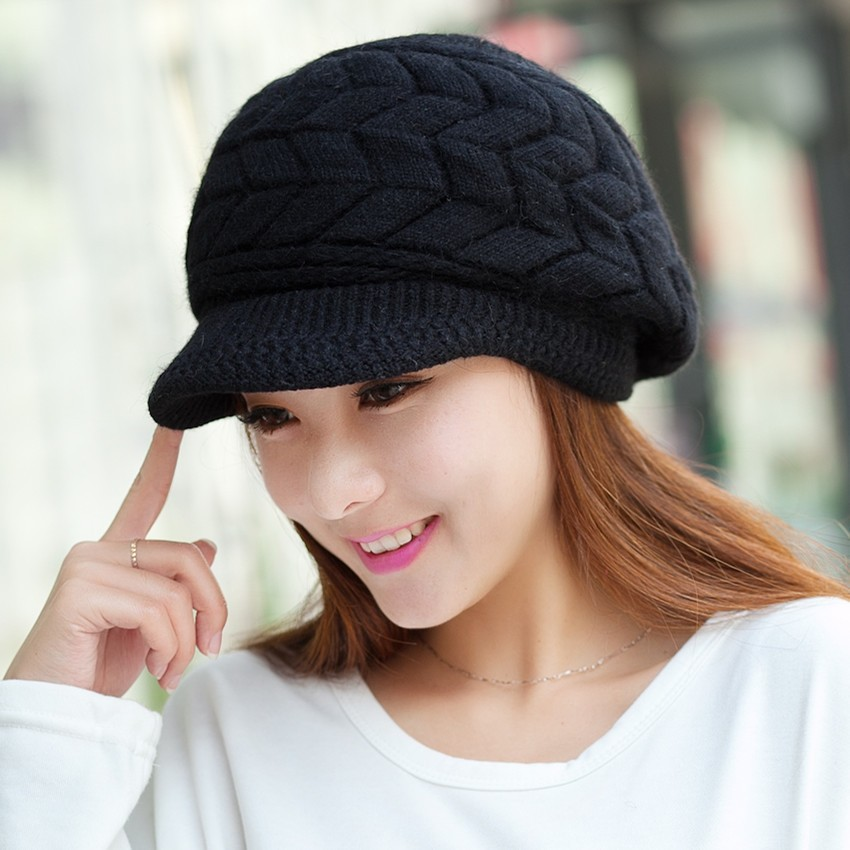 df7c4578381 Vintage Flat Top Wide Brim Round Wool Felt Fedora Hat -Black ...