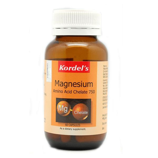 Kordel\'s Magnesium Amino Acid Chelate 750mg 60\'S