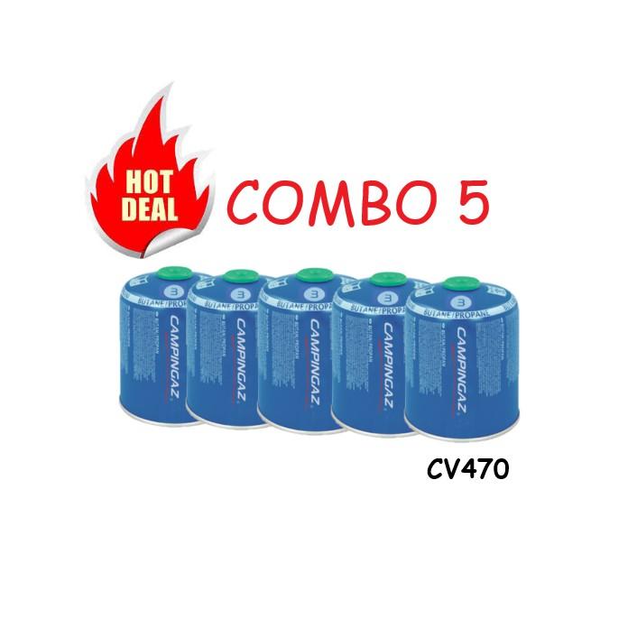 [SALE] 5 CAMPINGAZ CV470 Plus Valve Gas Catridge