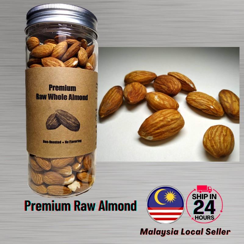 Ready Stock 250 grams - Premium Raw Whole Almond