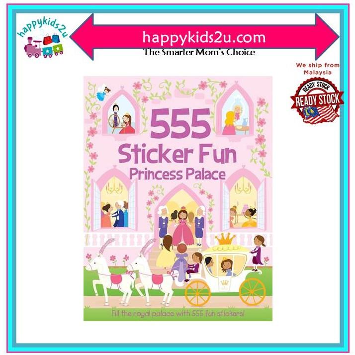 [Ready Stock] 555 Stickers Princess Palace Book for Girl Amazing Enjoy and Fun l Buku Stiker Kanak-kanak