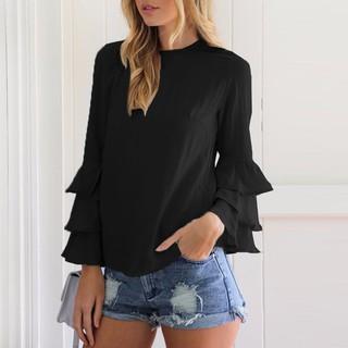 b8fb3b05035adf ZANZEA Women Tops Long Sleeve Solid Blusas Casual Loose Blouses Plus Size |  Shopee Malaysia