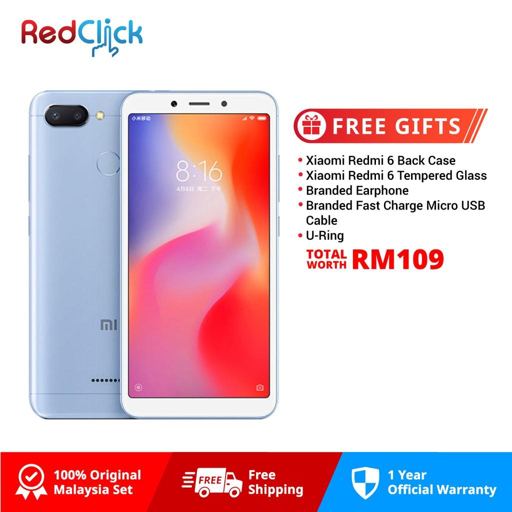 Xiaomi Redmi 6 (3GB/32GB) + 5 Free Gift Worth RM109