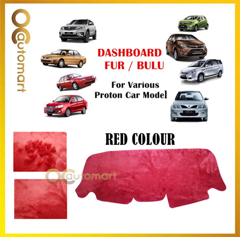 Dashboard Cover Fur/Bulu (Red) Customized For Proton Exora,Wira,Perdana,X70,Saga BLM/FLX,Ertiga,Iriz,Persona,Gen 2 Preve
