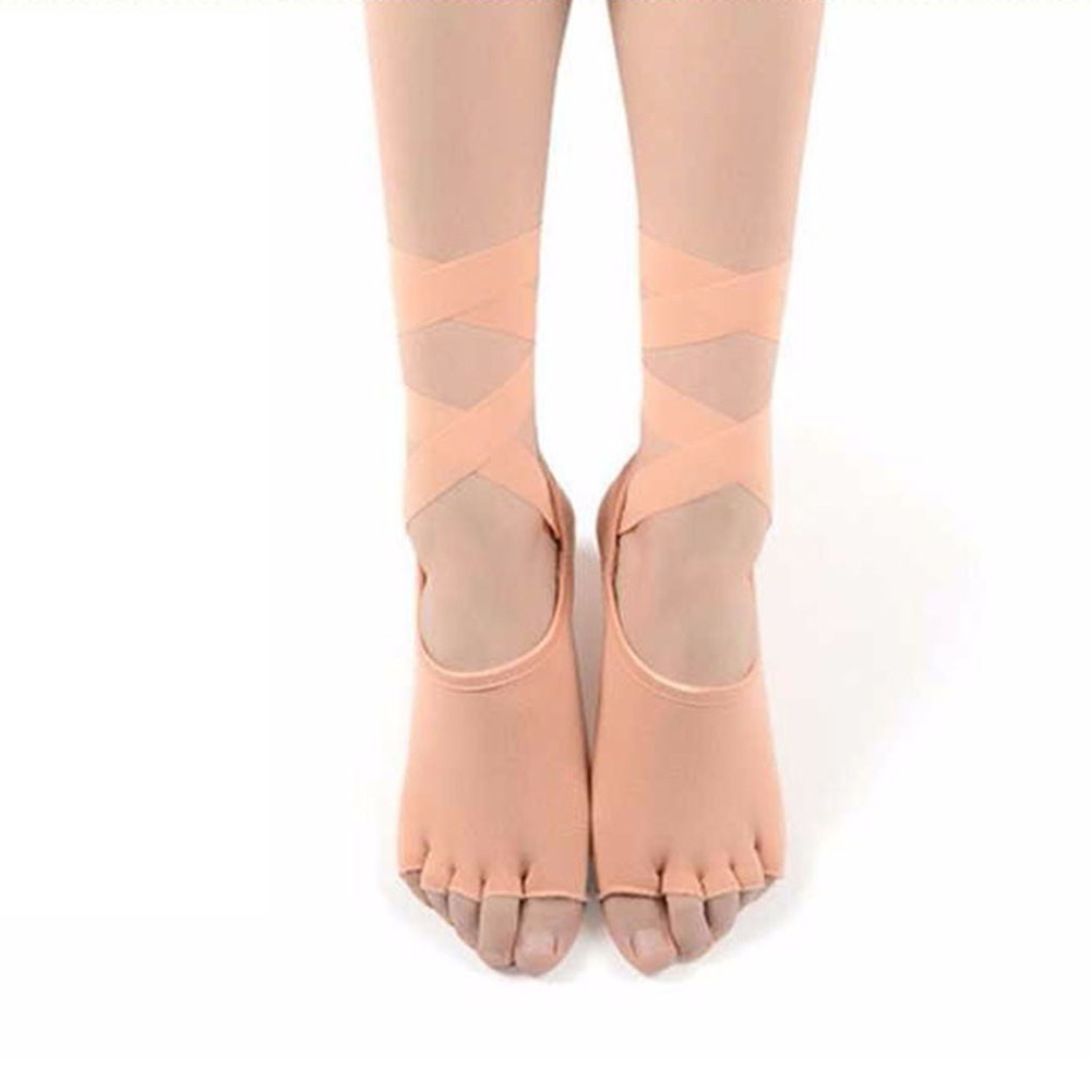 1pairs Toe Stockings Ballet Dance Bandage Sport Socks Five Fingers Yoga Socks