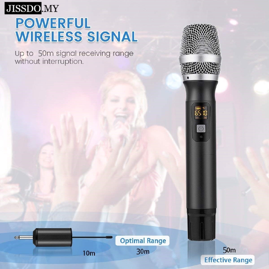 Wireless Microphone Selectable Karaoke Microphone for Singing Church Home Business Meeting ARCHEER UHF Handheld Dynamic Microphone bluetooth with Rechargeable Receiver and 3.5mm Adaptor