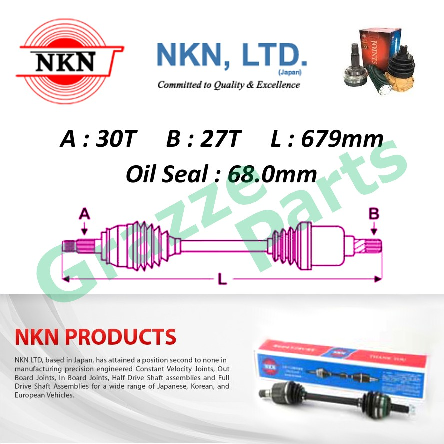 NKN Drive Shaft LH-Short for N6426 Honda Accord TAO 2.4
