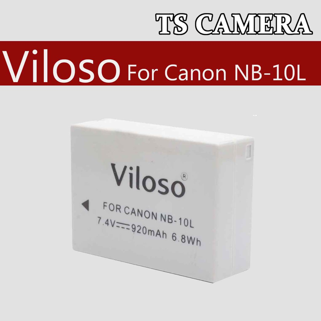 CANON NB-10L REPLACEMENT BATTERY + CHARGER / VILOSO NB10L
