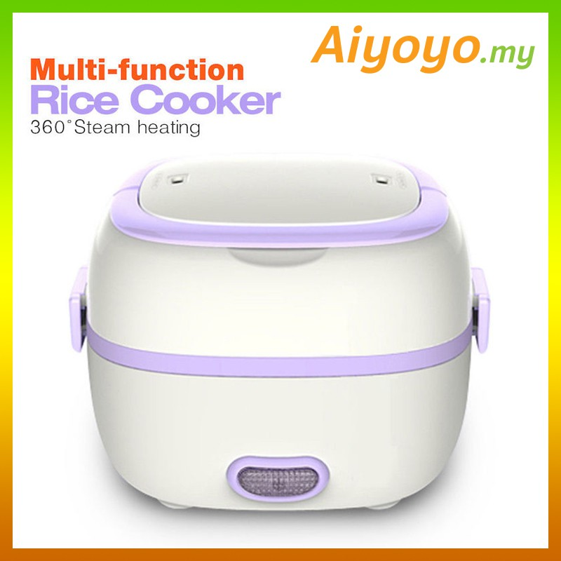 PURPLE Multifunction Portable Electric Mini Rice Cooker Lunch Box Steam Heating | Shopee Malaysia