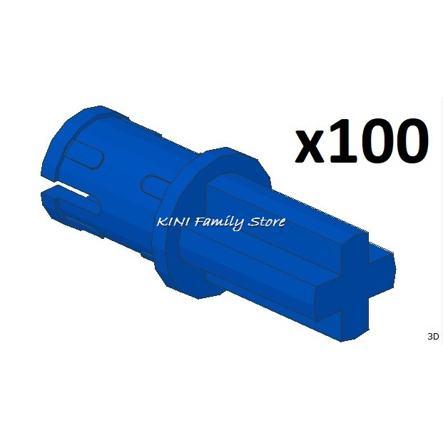 LEGO 43093 Technic Axle Pin with Friction Ridges Lengthwise Blue Parts