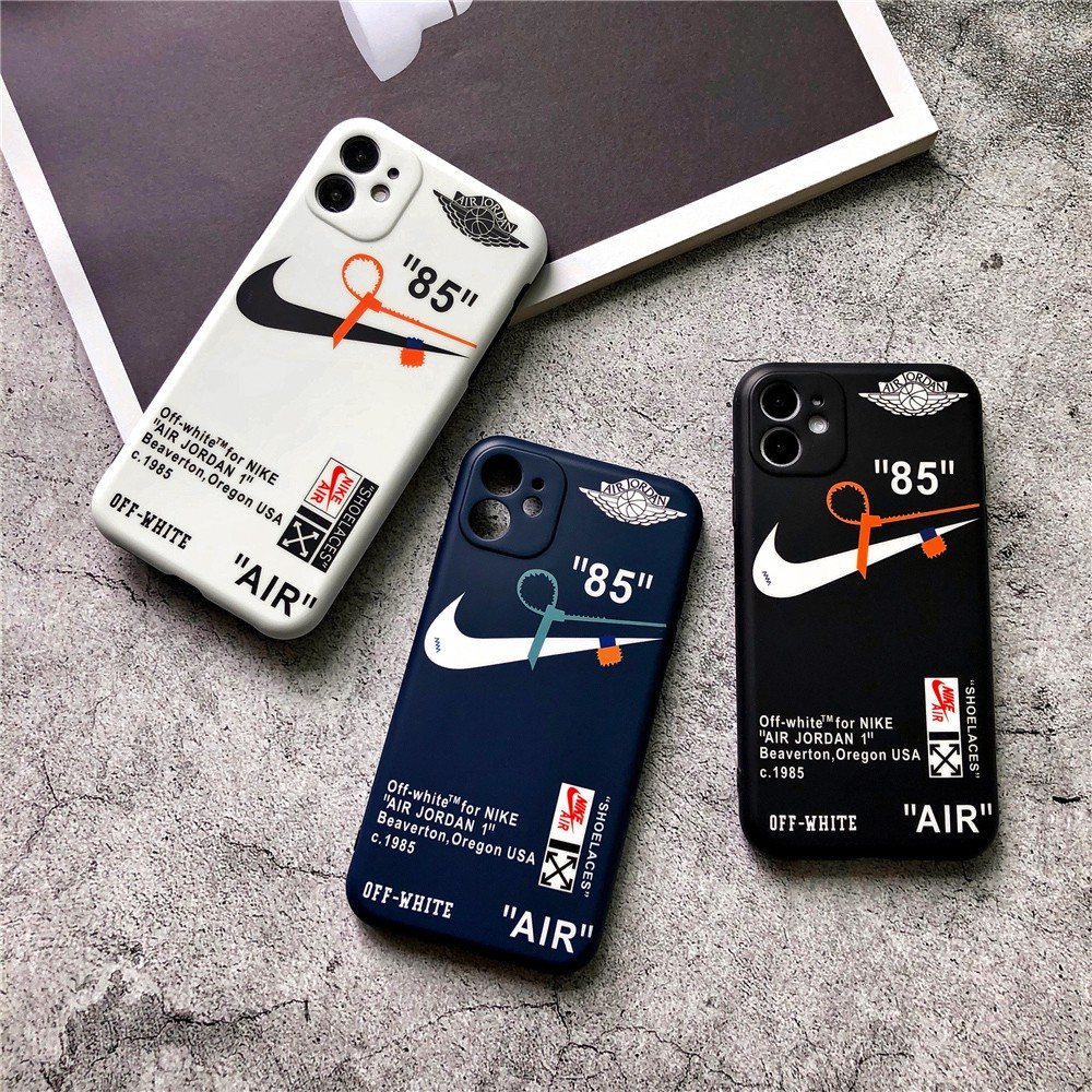 Provisional acuerdo equipo  Nike Air Jordan 1 Off White Soft Phone Case iPhone OFF-WHITE 11 pro max 6  6s plus 7 8 plus xr xs max Full Coverage Protective Cover | Shopee Malaysia