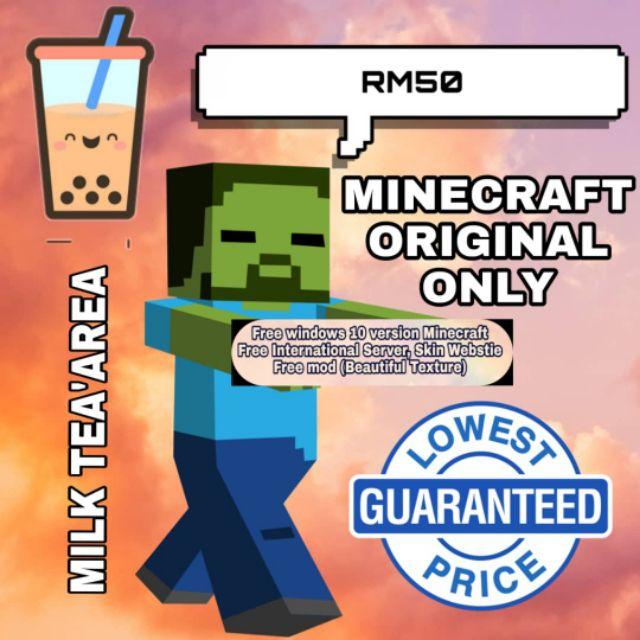 Free Gift Minecraft Java Edition Original Version Only Rm50