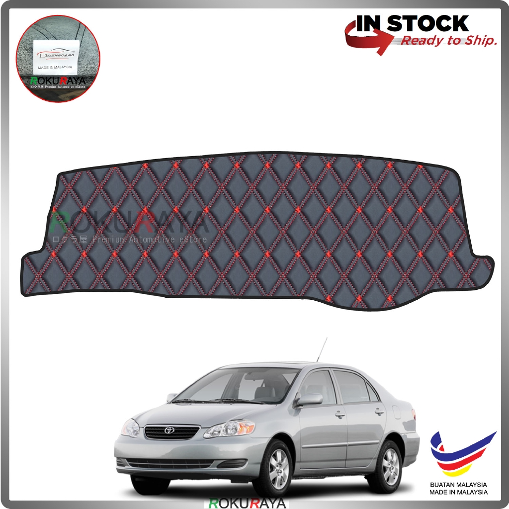 Toyota Corolla Altis (9th Gen) 2000-2006 RR Malaysia Custom Fit Dashboard Cover (RED LINE)