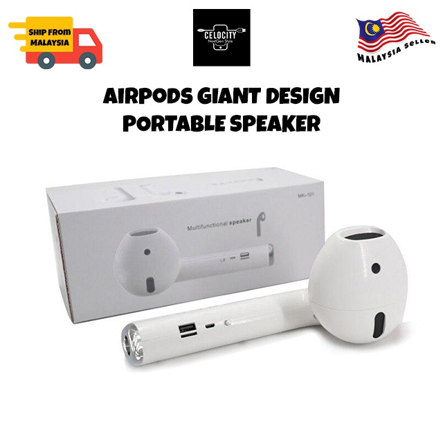 AirPods Big Size Bluetooth TWS Dual Portable Speaker MK-101