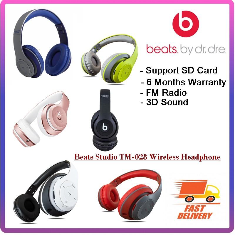 🎧ReadyStock Beats Studio TM-028 Wireless Headphone with Stereo FM Headset