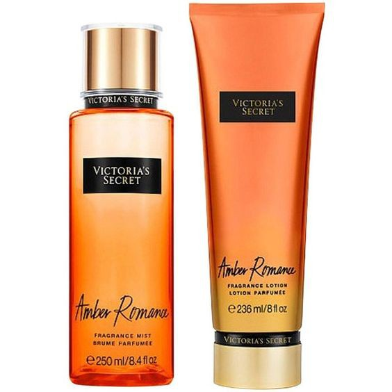 Victoria\'s Secret Amber Romance Fragrance Mist 250ml + Body Lotion 236ml