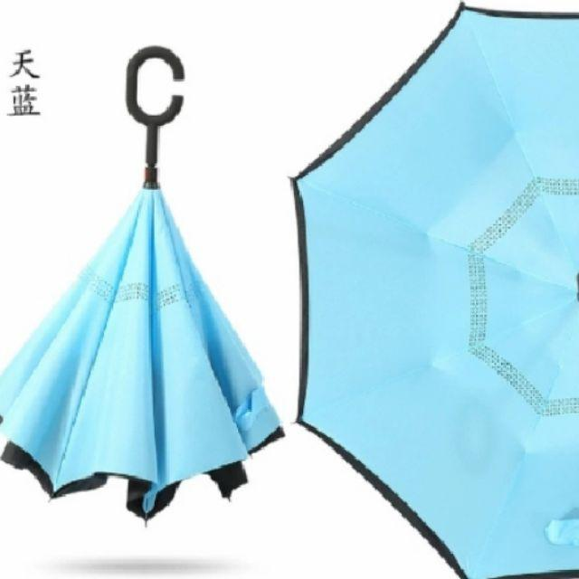 Double Layer Inverted Umbrella With C-Shaped Handle Dumbo With Bird Reverse Windproof Umbrella UV Protection Upside Down Umbrella