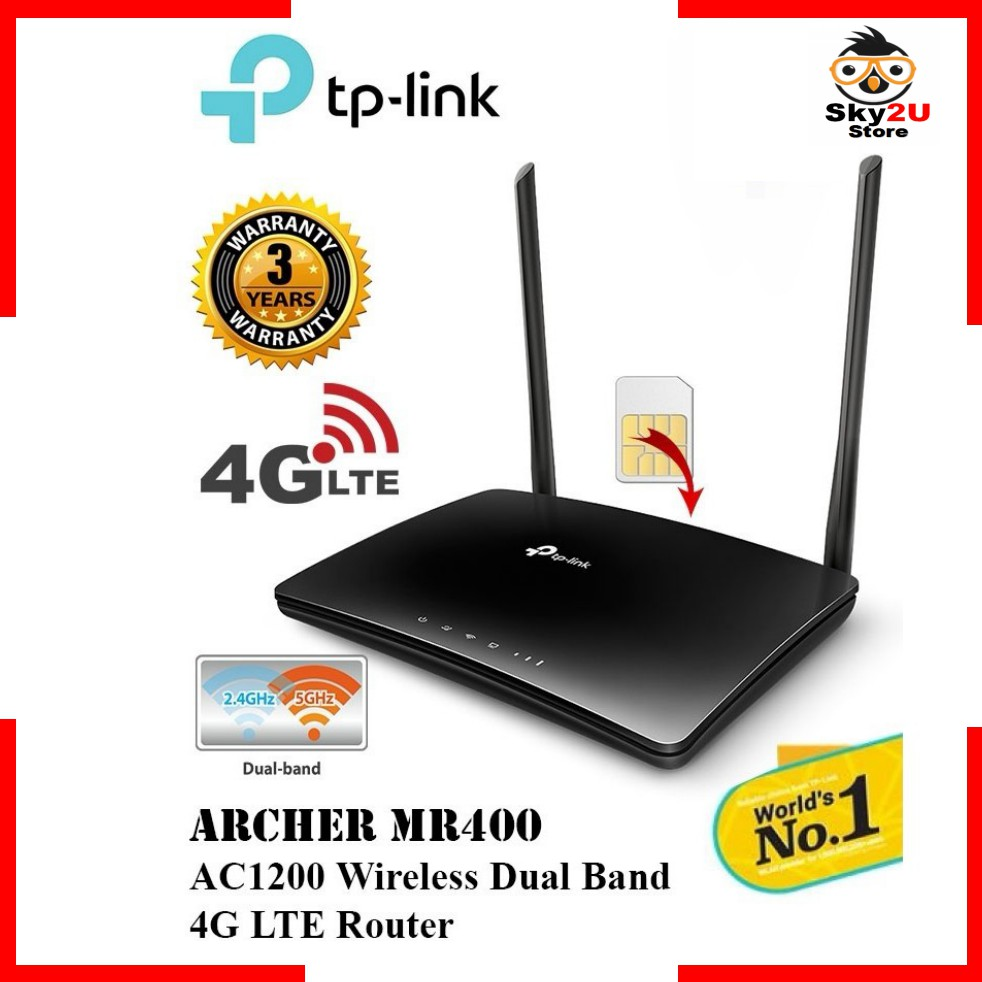 TP-LINK ARCHER MR400 AC1200 DUAL BAND 4G LTE SIM ROUTER