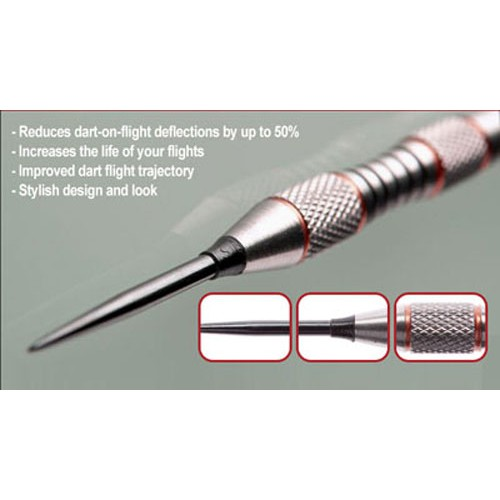 4 Sets of 3 Silver TRIDENT 180 Steel Tip Dart Flight Deflectors