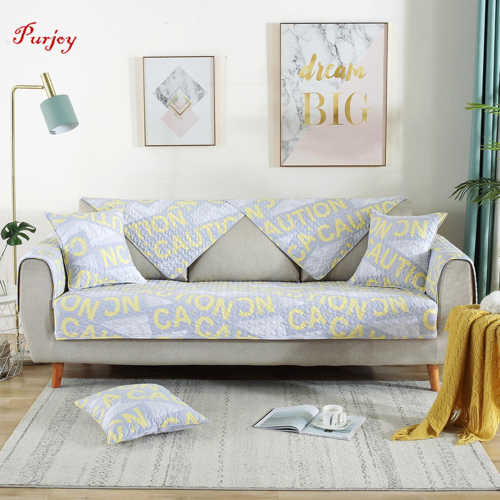 Surprising Purjoy Hot Salescotton Four Seasons Anti Slip Simple Modern Sofa Cushion Light Blue Yellow Sofa Cover Onthecornerstone Fun Painted Chair Ideas Images Onthecornerstoneorg