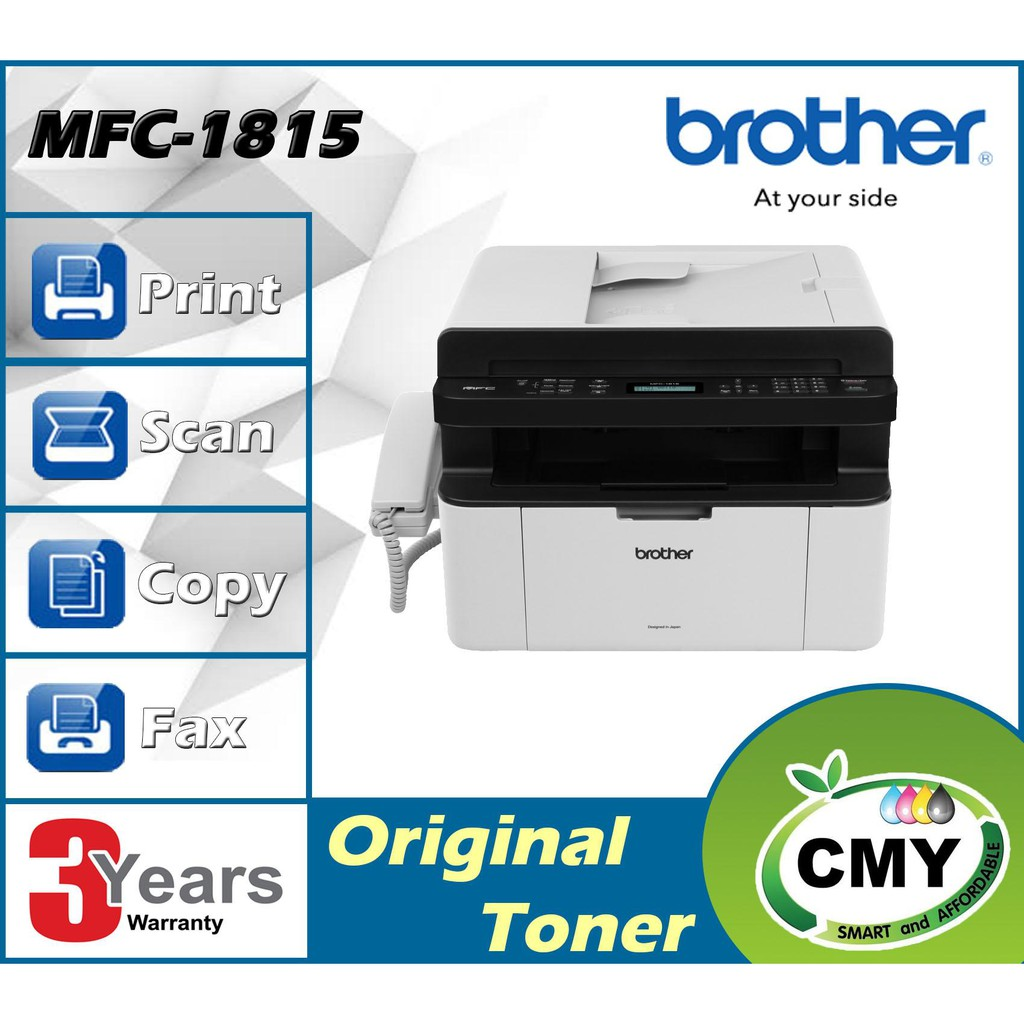 Brother MFC-1815 A4 4 in 1 with Headset USB Mono Laser Printer