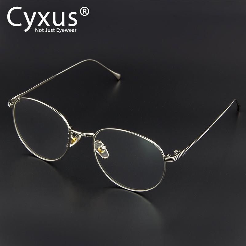 c19c0511ab2e Cyxus Korean Trendy Metal Black Frame Eyeglasses for Anti Digital Eyestrain