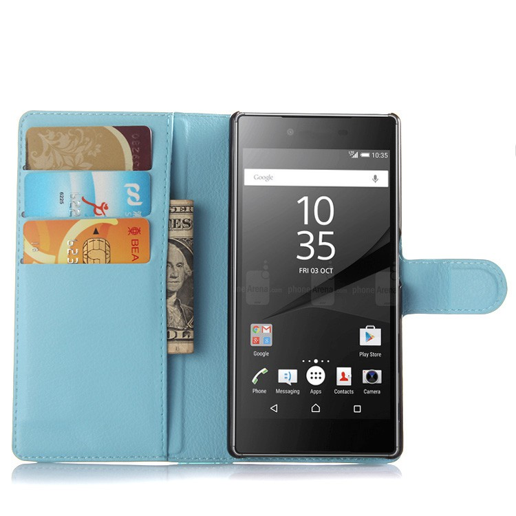 Sony Xperia Z5 E6603 E6633 E6653 E6683 Case Wallet Flip Magnetic PU Leather Case Stand Soft TPU Cover With Card H