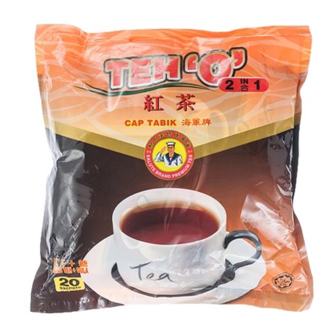 Salute Brand Teh O 2 In 1 20's x 16g Cap Tabik 海军牌 红茶