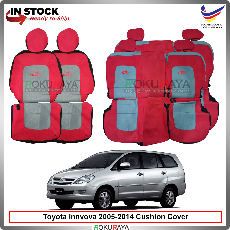 Toyota Innova (1st Gen) 2005-2014 Local GO Fabric Sponge Custom Fitting Cushion Cover Car Seat