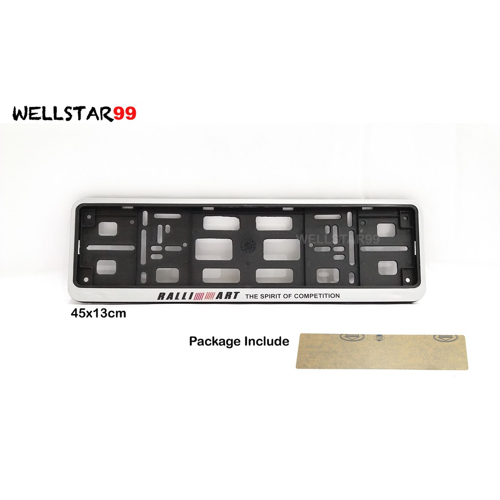 Ralliart Car Number Plate License Frame Cover