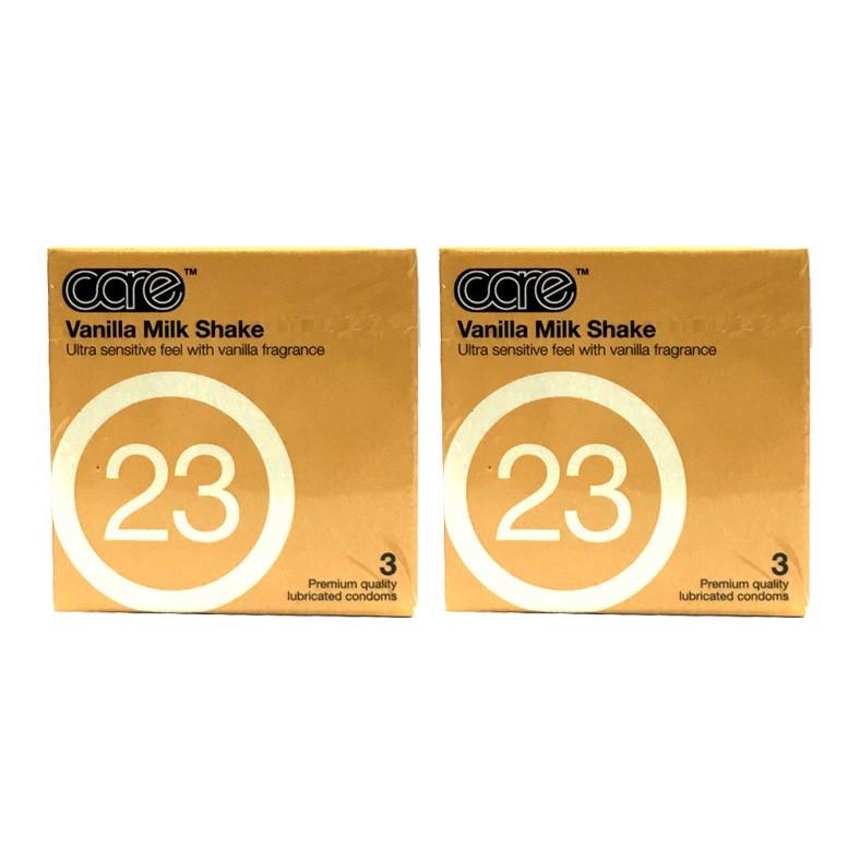 Care Vanilla Milk Shake Fragrance Condoms 3s X 2box