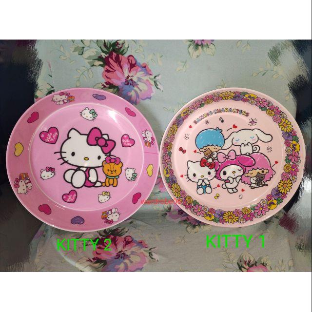 🔥🆕💯👍Cute cartoon dinnerware melamina plate~kitty 20*4cm