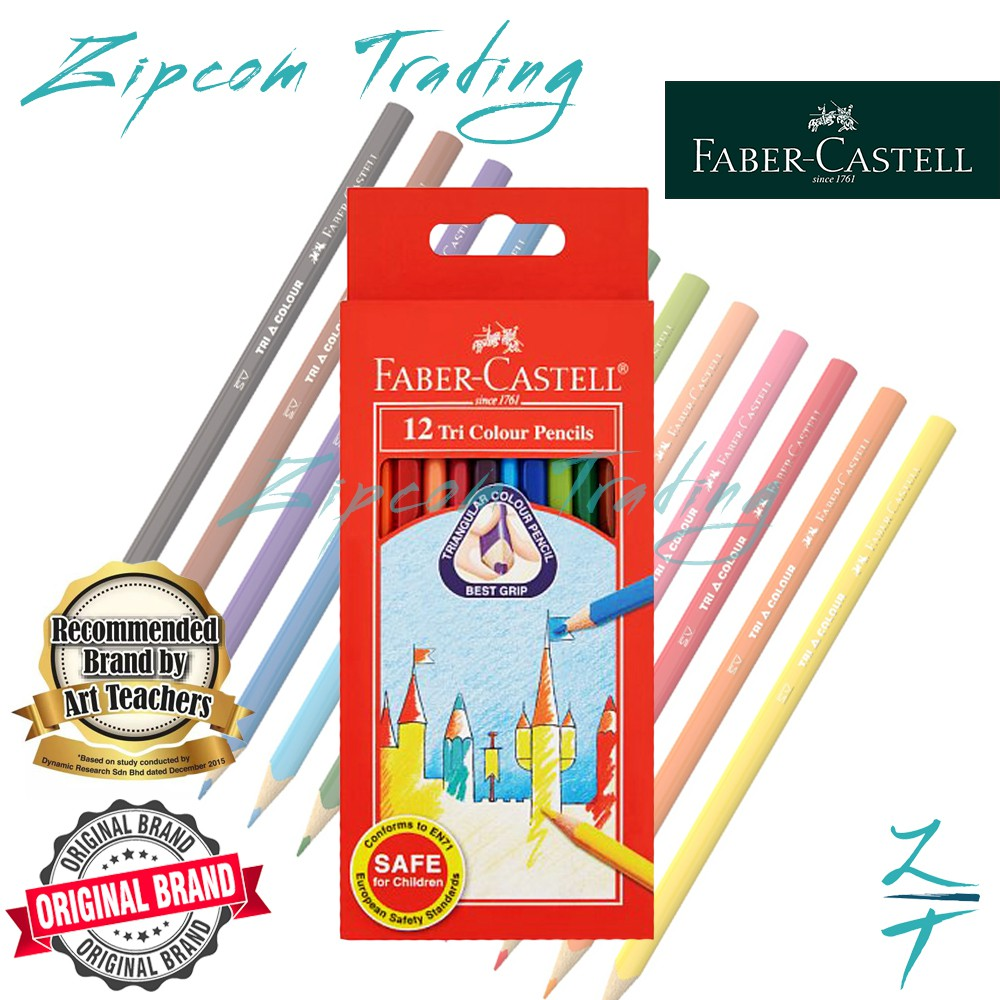 FABER-CASTELL Tri Colour Pencils (12 Colours)