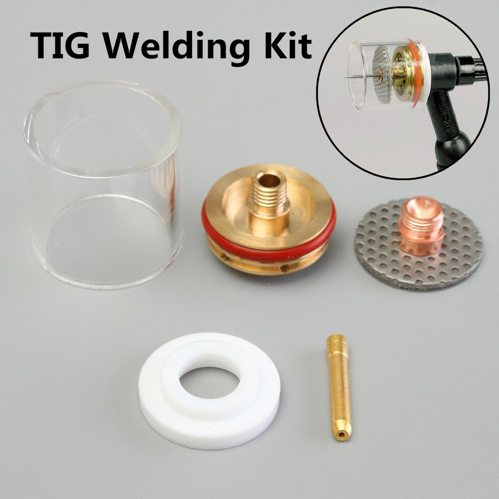 Large Jumbo Champagne TIG Welding Torch Weld Pyrex Cup Kit Torches 9 20 Gaz