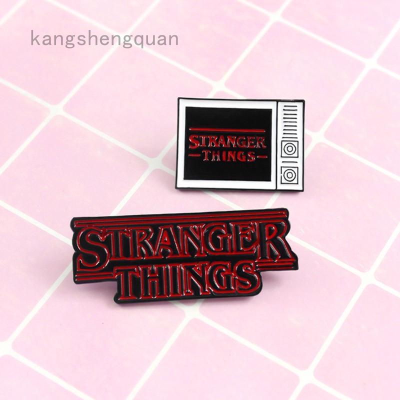 Stranger Things Enamel Stud Pin Badge NEW