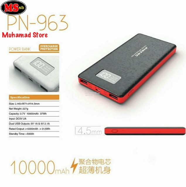 ORIGINAL !!! PINENG POWER BANK PN-963 (10,000mah)