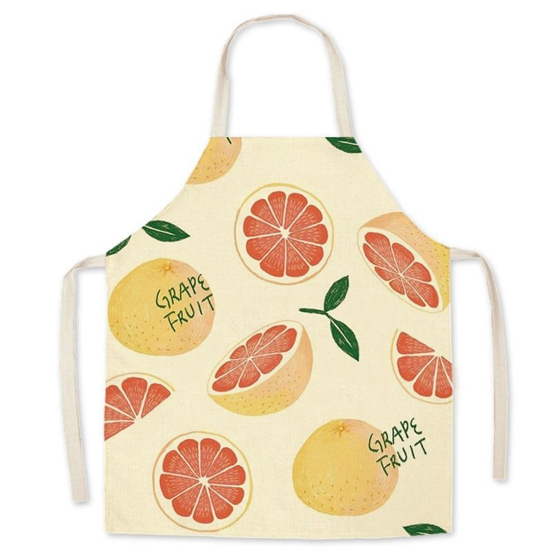 Kids Cotton Fruit Apron Strawberry Peach Orange Avacado Apron Kanak Kanak Chef Buah Fruit Colorfull Unisex