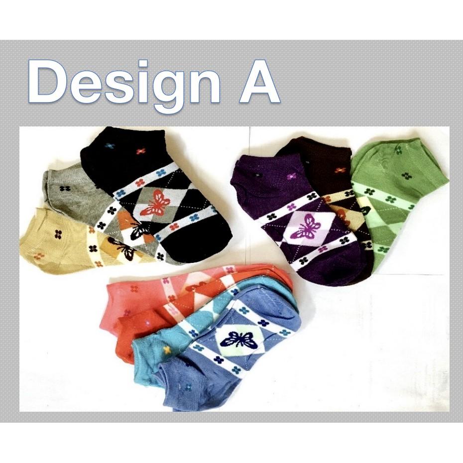 Fashion Women Girl Short Cotton Socks Creative Design Soft Sports Casual Comfortable 2 Design