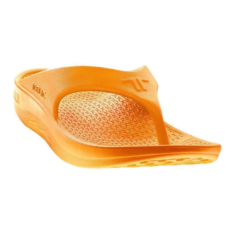 2bc45daf630a TELIC T100-01 black Flip Flop After Sport Sandal Arch Support Women Unisex