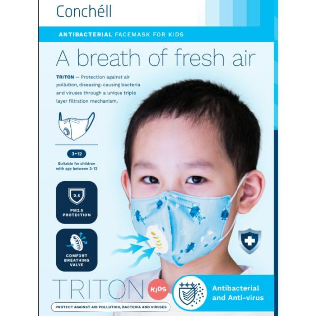 2pcs Conchell Mask Triton Face Antibacterial