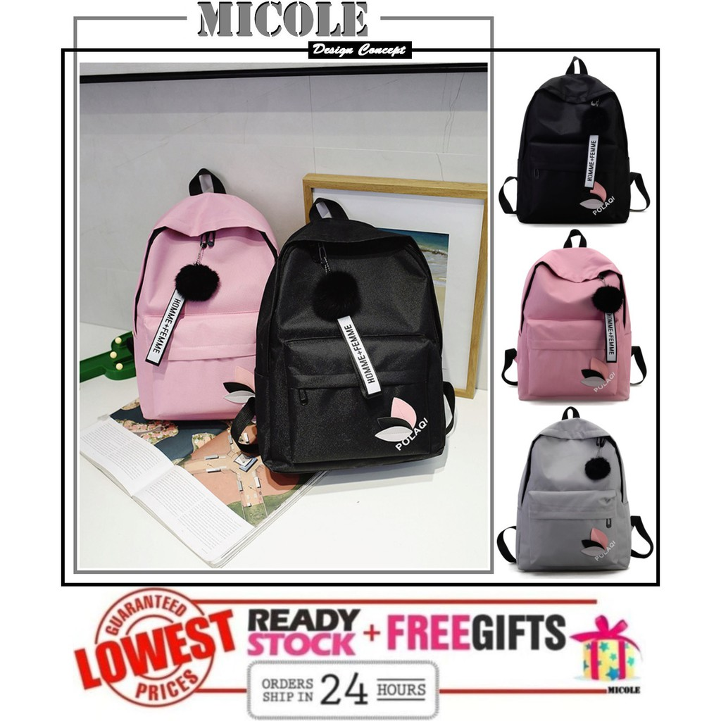 ✨ Ready Stock ✨ MICOLE School Bag Casual Backpack Travel Bag Pack Beg  BP1062 +🎁   Shopee Malaysia 14672ef686