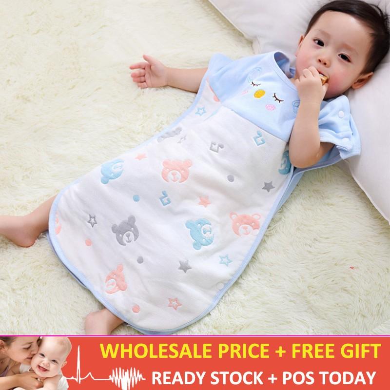 innovative design 97d0b abae1 Newborn Sleeveless Baby Sleeping Bag Cartoon 6 Layers Cotton Kids Sleeping  Bag