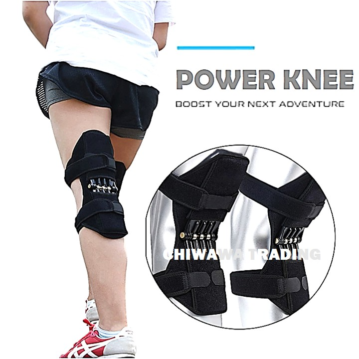 2 Pcs Breathable Elbow Joint Support Power Lift Rebound Spring Force Knee Pad Protector Brace Belt Patella Guard / Lutut