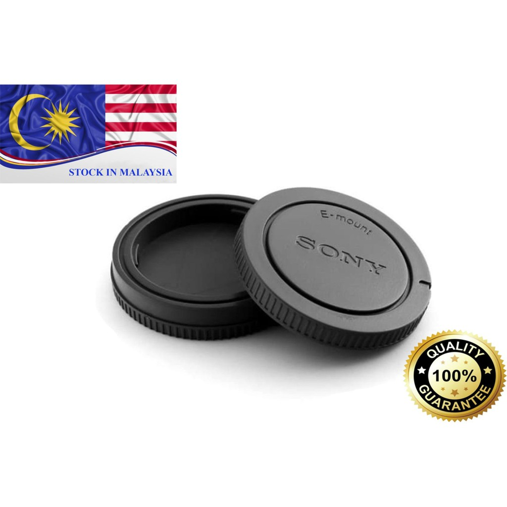 Rear Lens Cap and Camera Front Body Cover for Sony E-Mount NEX-3 NEX-5 (Ready Stock In Malaysia)
