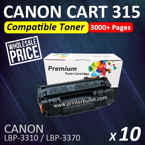 10 unit Compatible Canon 315 Black Toner Cartridge